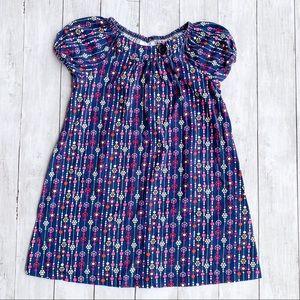 Hanna Andersson Navy Floral Dress Size 130 (8)